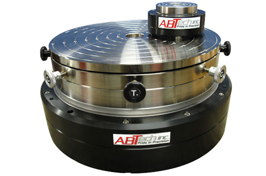 Rotary air bearing table AT100 and AT400 size comparisons