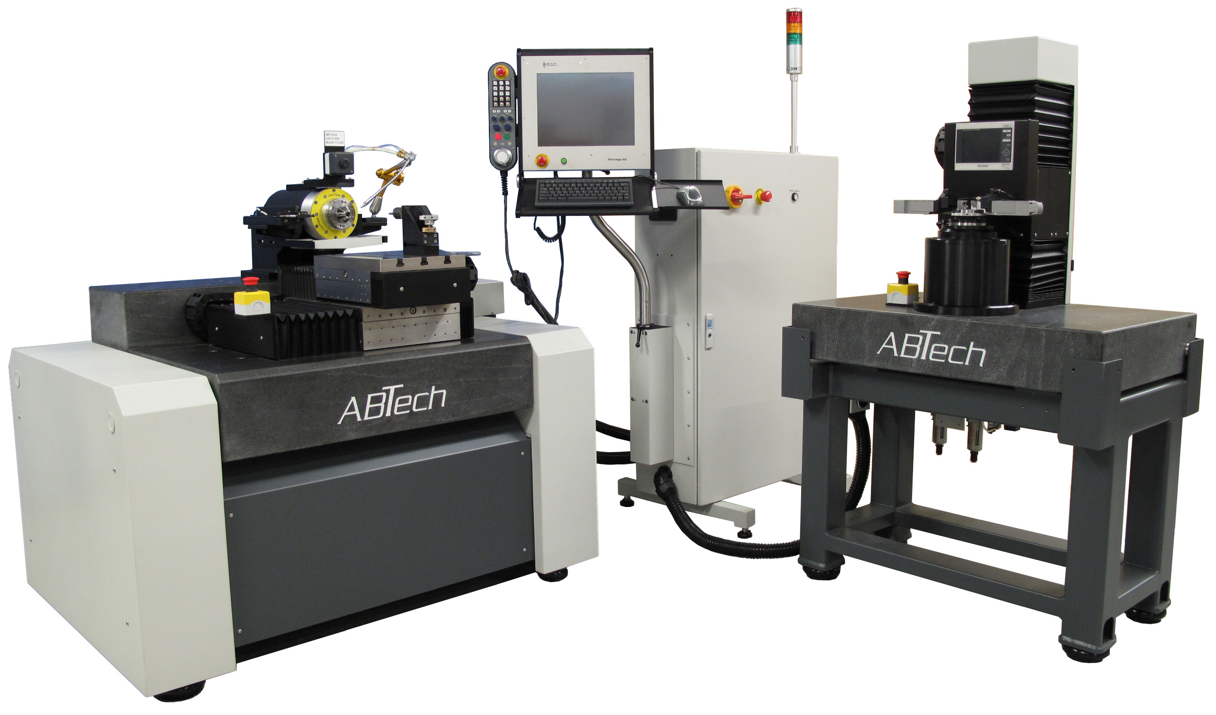 Multi-axis air bearing lathe and metrology work cell