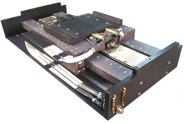 Air bearing linear stage with motor drive option