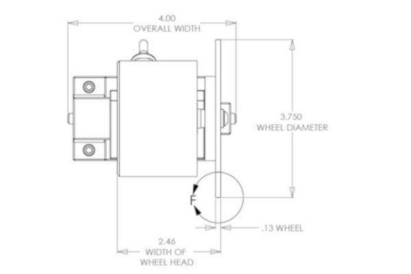 Mechanical drawing for DMG360