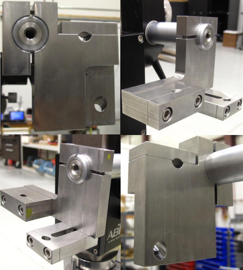 Dual plunger-type gage mounts