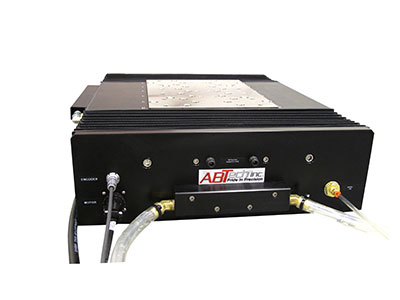 Oil hydrostatic linear stage front view