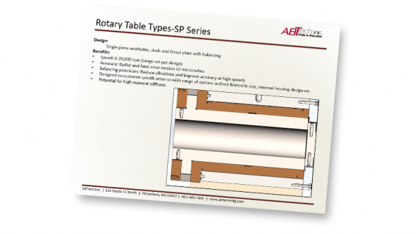 Rotary Table Types-SP Series