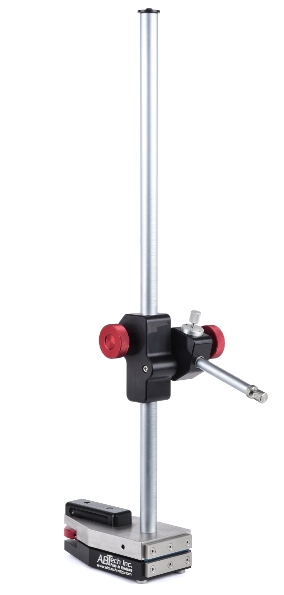 "Universal probe stand with fine adjust base. 24"" travel post, 12"" travel horizontal arm fiction drive."